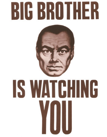 """big brother is watching you The telescreens also monitor behavior—everywhere they go, citizens are continuously reminded, especially by means of the omnipresent signs reading """"big brother is watching you,"""" that the authorities are scrutinizing them the party undermines family structure by inducting children into an organization called the junior spies, which ."""