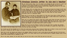 A Letter From Abraham Lincoln To His Son's Teacher   Blog EBE