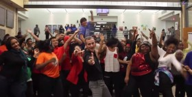 "A Cool Teacher Organized A School-Wide Dance Party To ""Uptown Funk"""