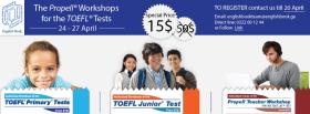სამუშაო შეხვედრები TOEFL ტესტისთვის